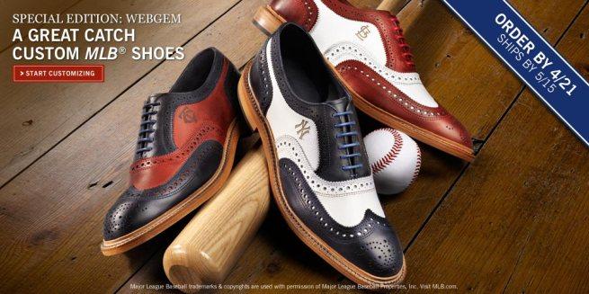 Allen Edmonds offers custom MLB shoes.