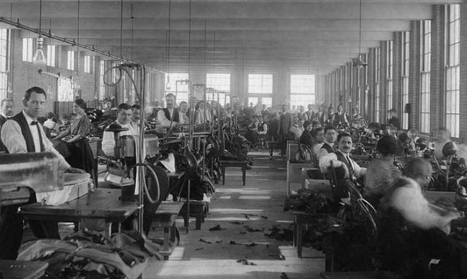 The Hickey Freeman factory in 1899