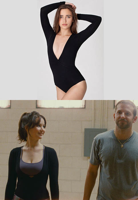 Jennifer Lawrence wears American Apparel
