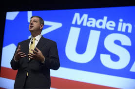 Bill Simon, CEO of Wal-Mart, speaks on 8/22/13 at a U.S. Manufacturing Summit