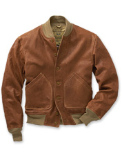 Orvis A-1 Light Leather Bomber Jacket
