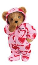 Vermont Teddy Bear Hoodie Footie Bear