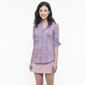 Berry Bunch Slim Fit Cotton Shirt