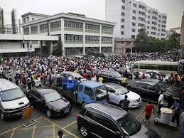 Chinese workers on strike (30,000 workers)