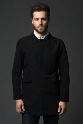 Stock Mfg Nylon Trench Coat