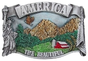 America the Beautiful Belt Buckle by All American Buckles