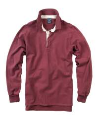 Bills Rugby Shirt in burgundy by Bills Khakis