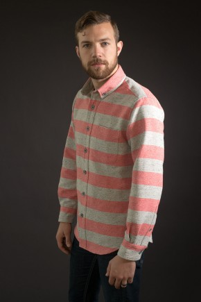 Heavyweight Red Stripe Shirt
