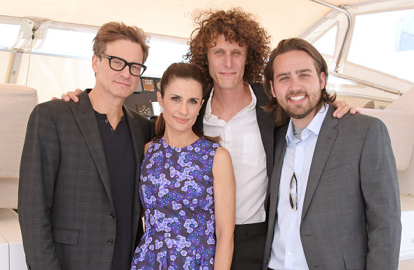The premiere of The True Cost in Cannes: Colin Firth, Livia Firth Andrew Moran and Paul Ross