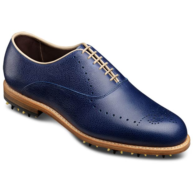 Weybridge golf shoes - blue grain