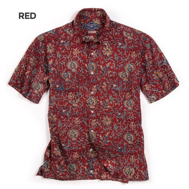 Dad's Beach Shirt (red) from Bills Khakis