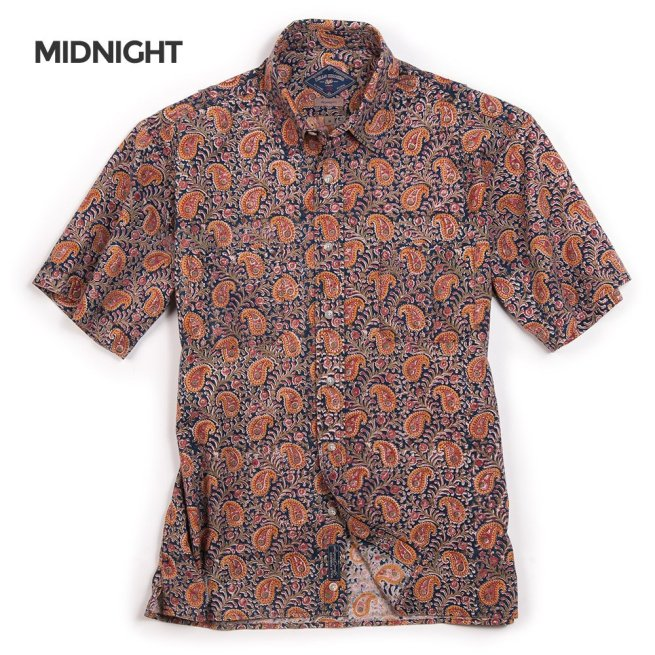 Dad's Beach Shirt (Midnight) by Bills Khakis