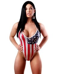 American Flag Thong by Bodyzone Apparel