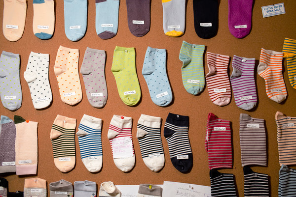 "A ""Mood Board"" of socks, patterns and styles"
