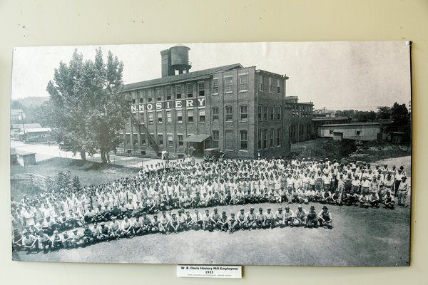 A Photo of WB Davies Hosiery Mill, 1933