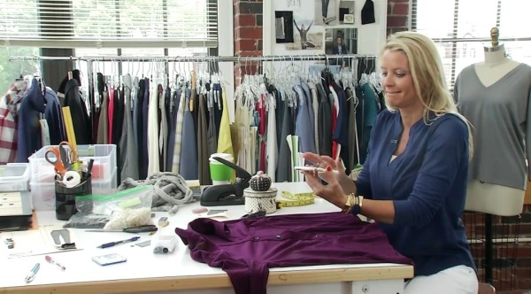 Eliza Chappell, Ramblers' Way clothing designer and daughter of Tom's of Maine founder Tom Chappell, gets a call from her father while talking to CBS 13 news.