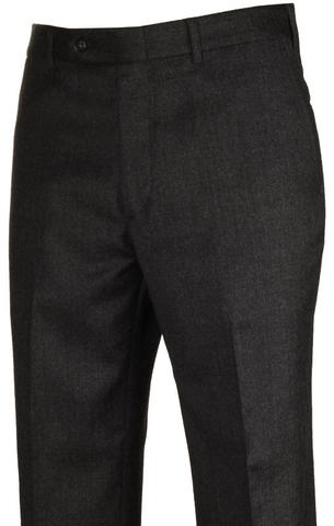 Hardwick Charcoal Flannel - stretch wool pants