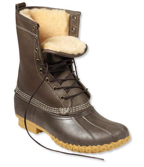 "LLBean Women's 10"" Shearling-Lined Boots"