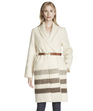 Women's Eco-rich wool blanket coat