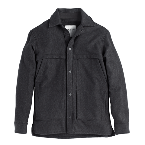 Wool Overshirt Charcoal