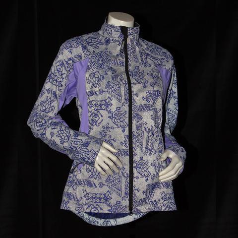 Illuminite Bristol Women's reflective jacket Lilac and Blacklight