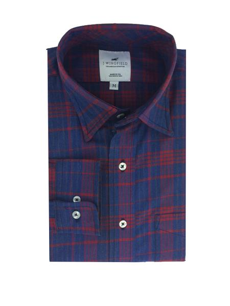 Casual Button-down Shirts Men's Clothing Fast Deliver Pendleton Mens Pure Wool Flannel Shirt Sz L Check Plaid Green Lumber Jack Button Profit Small